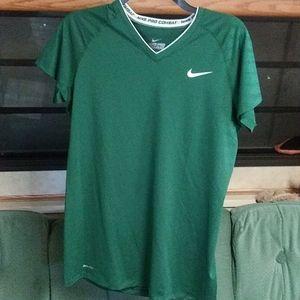 Nike Pro Combat Dri-Fit V neck T-shirt size Large